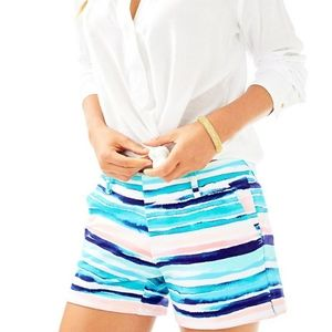 Lilly Pulitzer Shorts Callahan Blue White Striped